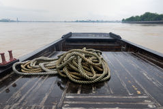 Woodern boat. A wood boat on the river in the south of china Stock Image