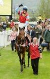 Horse Racing. Woodfleet winning at cheltenham races 5-5-17 Stock Photos