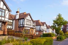 Woodford-Häuser Stockfotos
