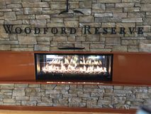 Woodford Reserve fireplace Royalty Free Stock Image