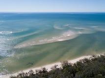 Woodgate is een kleine visserijstad in Queensland stock foto's