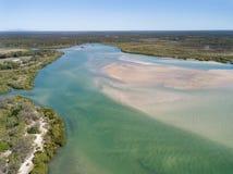 Woodgate is een kleine visserijstad in Queensland stock fotografie