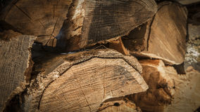 Woodgrain καυσόξυλου κινηματογράφηση σε πρώτο πλάνο Στοκ Εικόνες