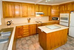 Woodgrain kitchen Stock Image