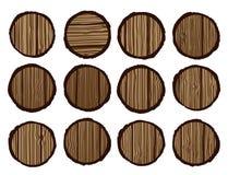 Woodgrain organic tree Stock Images