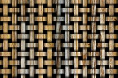 Woodgrain Weave Design Stock Image