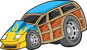 Woodie Car Illustration. Summer Woodie Car Vector Illustration Royalty Free Stock Photos