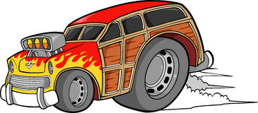Woodie Car Vector Royalty Free Stock Image