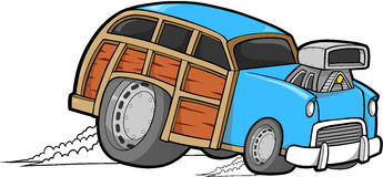 Free Woodie Car Vector Stock Images - 5075564
