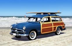 Woodie na praia Imagem de Stock Royalty Free