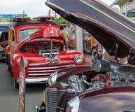 Woodies classici alla manifestazione di automobile Fotografie Stock Libere da Diritti
