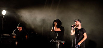 Woodkid (band) performs at Sonar Festival Stock Photography
