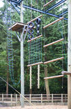 Woodland adventure climbing Stock Image