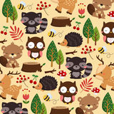 Woodland animal background Royalty Free Stock Images
