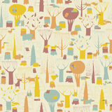 Woodland Animals seamless pattern Royalty Free Stock Photo