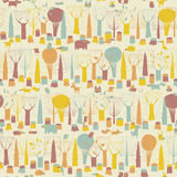 Woodland Animals seamless pattern Royalty Free Stock Photos