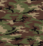 Woodland army camouflage seamless pattern Stock Images
