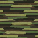 Woodland Camouflage. Formless spotted pattern. Of ragged strips. Seamless vector army camouflage in the green scheme Royalty Free Stock Photos