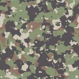 Woodland Camouflage. Seamless Tileable Texture. Royalty Free Stock Image
