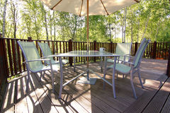 Woodland deck and patio set Royalty Free Stock Image