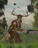 Woodland Deity stock illustration