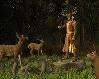 Woodland Deity Stock Photo