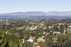 Woodland Hills zu Porter Ranch View stockbild