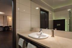 Woodland hotel - Bathroom Stock Image