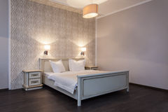 Woodland hotel - Bedroom in hotel Royalty Free Stock Photography