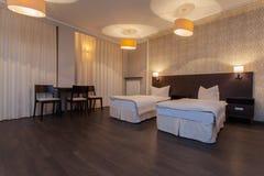 Woodland hotel - Double room Royalty Free Stock Photos