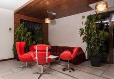 Woodland hotel - Modern interior Stock Images