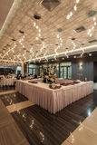 Woodland hotel - Restaurant table Royalty Free Stock Image