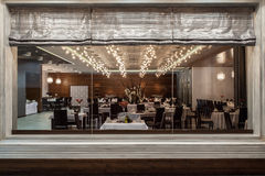 Woodland hotel - restaurant Royalty Free Stock Images