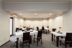 Woodland hotel - restaurant room Stock Photography