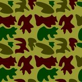 Woodland hunting camoflauge seamless pattern. Military camouflage seamless pattern army day background and garment graf new uniform Stock Images