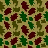 Woodland hunting camoflauge seamless pattern. Military camouflage seamless pattern army day background and garment graf new uniform Stock Photo