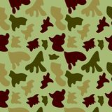 Woodland hunting camoflauge seamless pattern. Military camouflage seamless pattern army day background and garment graf new uniform Royalty Free Stock Images