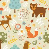 Woodland pattern Royalty Free Stock Images