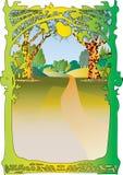 Woodland scene and frame. Stock Image