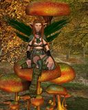 Woodland Sprite in an Autumn Forest - 1 Royalty Free Stock Image