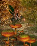 Woodland Sprite in an Autumn Forest - 2 Royalty Free Stock Photos