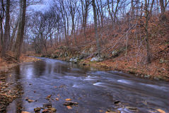 Woodland Stream in Winter Royalty Free Stock Photo