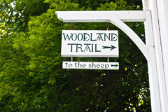 Woodland Trail Sign Stock Photos