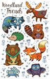 Woodland tribal animals vector set Stock Image