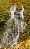 Woodland Waterfall in the Spring Stock Photos