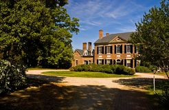 Woodlawn Mansion Virginia - 2. Beautiful, historic mansion at Woodlawn, Virginia.  The land and much of the furnishings were given to Nellie Custer, by her Royalty Free Stock Photography
