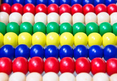 Woodlen balls Stock Photos