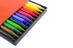 Woodless Colored Pencils in the Box Stock Photography