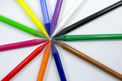 Woodless Colored Pencils Closeup Royalty Free Stock Photo