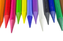 Woodless Colored Pencils Unarranged Macro Closeup Stock Photography